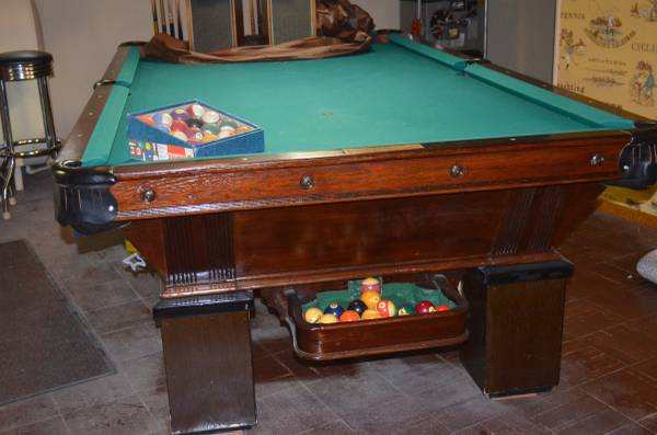 SOLO® - Long Island - Vintage 9ft Wood Pool Table Includes ...