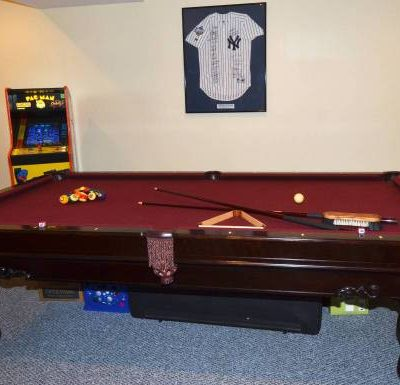 Elegant Mahogany Brunswick Pool Table