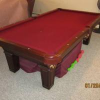 """8' x 4' Olhausen 1"""" 3 Piece Slate Pool Table"""