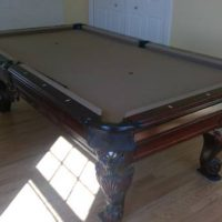 AMF Playmaster Grey Felt Pool Table