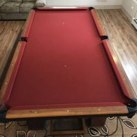 Atlantic Billiard Table Orange Felt