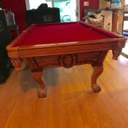 Slate Pool Table 8' And All Accessories