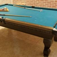 8' Custom Made Mahogany Pool Table