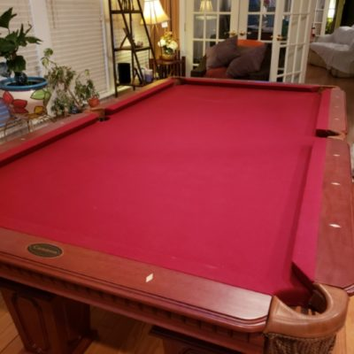 Bradford Pool Table - Maroon Felt - 8ft - Impeccable Condition